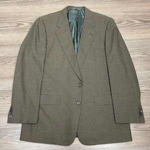 Hickey Freeman Brown & Tan Check Sport Coat 41R